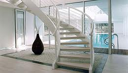 Helical All White Stairs