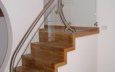 Modern Staircase with Curved Balustrade