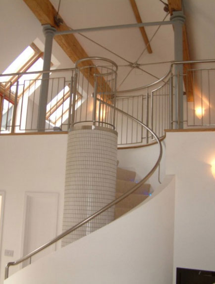 Bespoke Balustrade Contemporary Railings: Glass Balustrade For Stairs