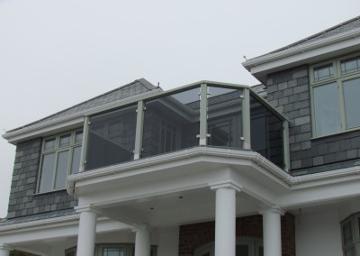 grey glass balustrade