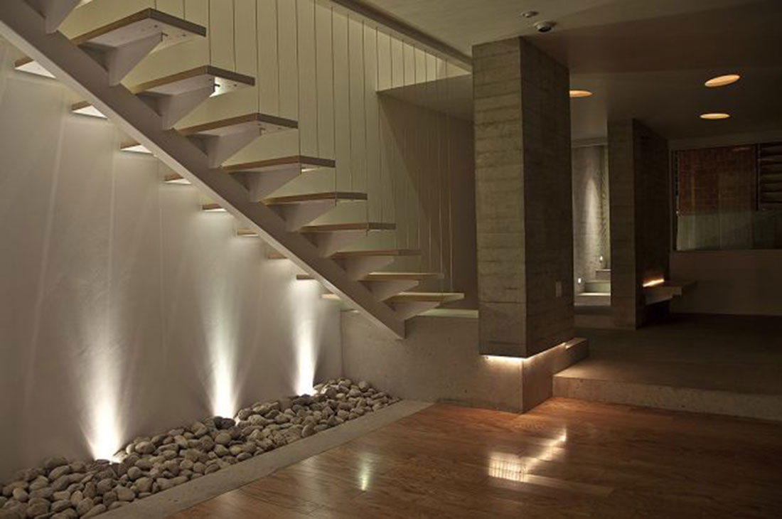 Designer staircases modern staircases london west - Interior stair lighting ideas ...